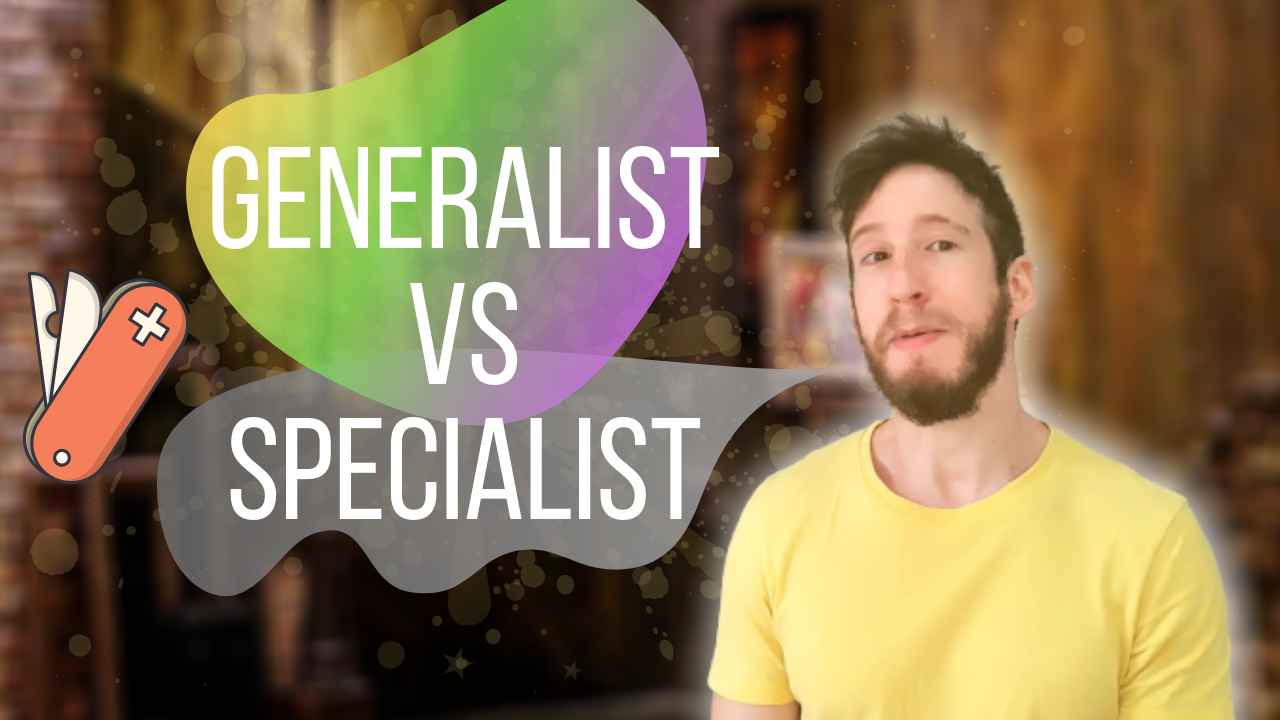 When being a specialist is better than a generalist