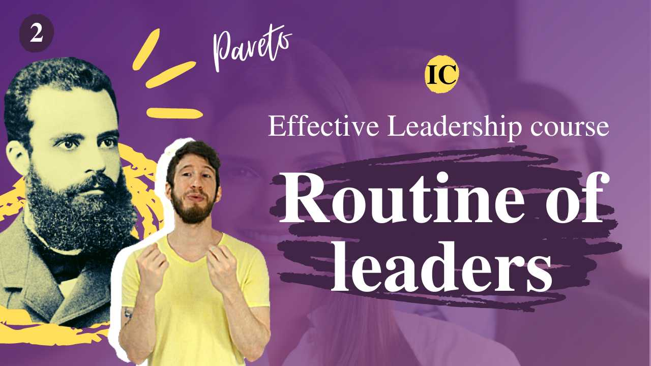 How to be a good leader: routine of a leader